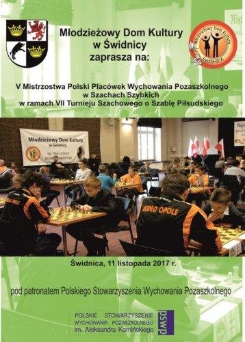 PLAKAT - VII Turniej Szachowy o Szablę Piłsudskiego